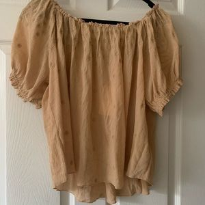 Doen peasant top w/ tags
